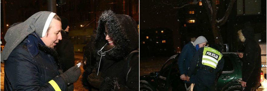 """Kauno policija reidui pasitelkė kunigą ir vienuolę: žvakės, """"tamsulių"""" gatvėse auklėjimas ir """"Golf"""" krata"""