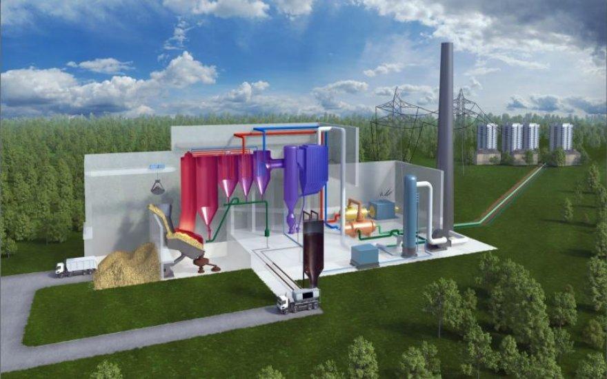 Vilniaus kogeneracinės elektrinės vizualizacija