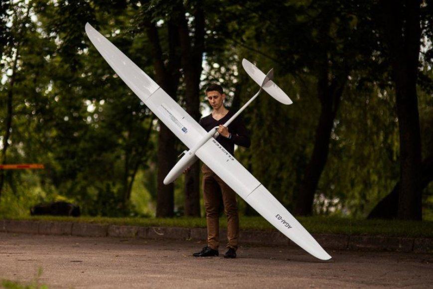 VGTU aviatorių sukurtas bepilotis orlaivis