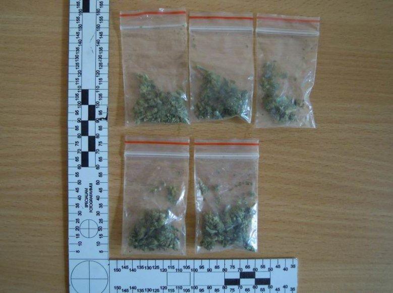 Konfiskuotos medžiagos