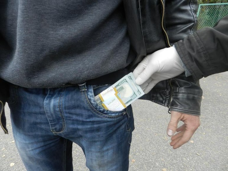 Sulaikyta grynųjų pinigų kontrabanda