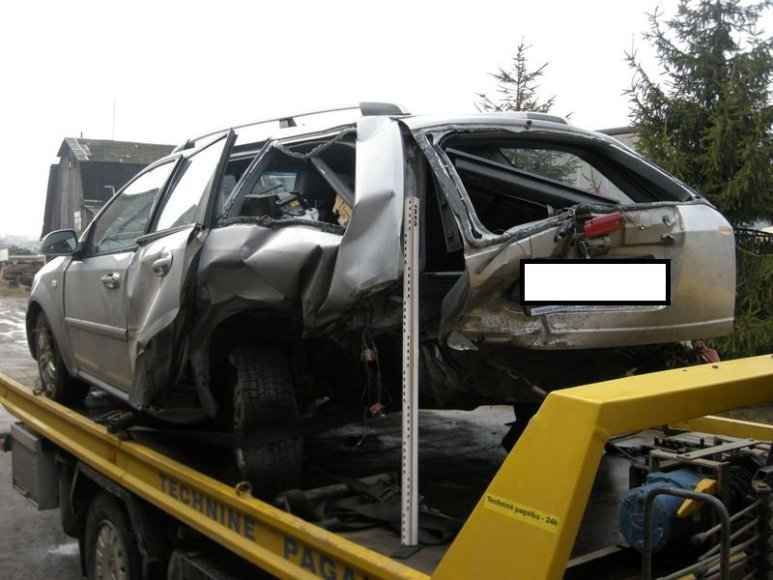 Policija ieško avariją Kaišiadorių rajone sukėlusio vairuotojo