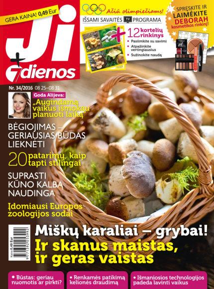 """Žurnalo """"Ji+7 dienos"""" viršelis, Nr. 34, 2016 m."""