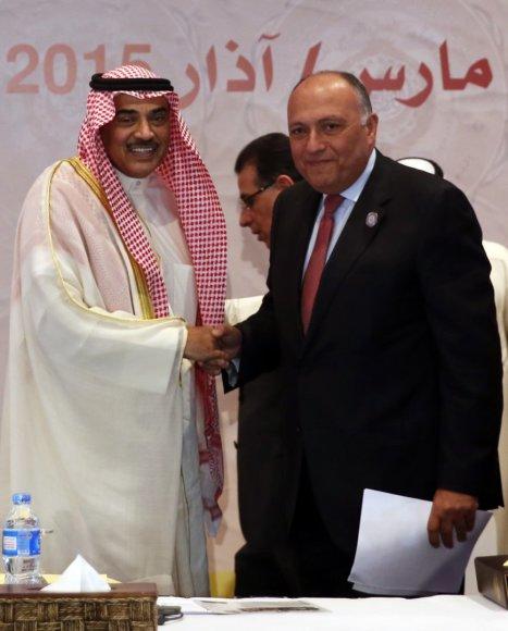 Sameh Shoukry - dešinėje