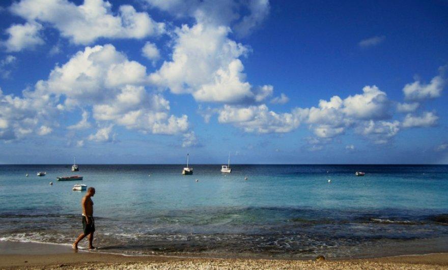 Skaidrus ir žydras Karibų jūros vanduo