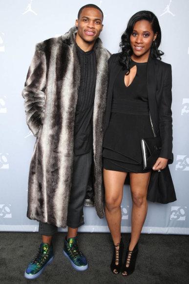 Russellas Westbrookas su žmona Nina