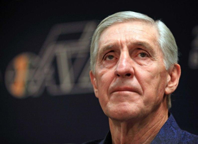 """Jerry Sloanas """"Jazz"""" komandai vadovavo nuo 1988 metų."""