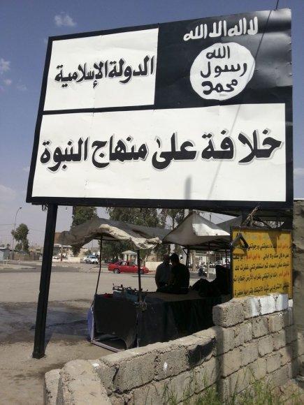 """""""Islamo valstybės"""" kontroliuojama teritorija Mosule"""