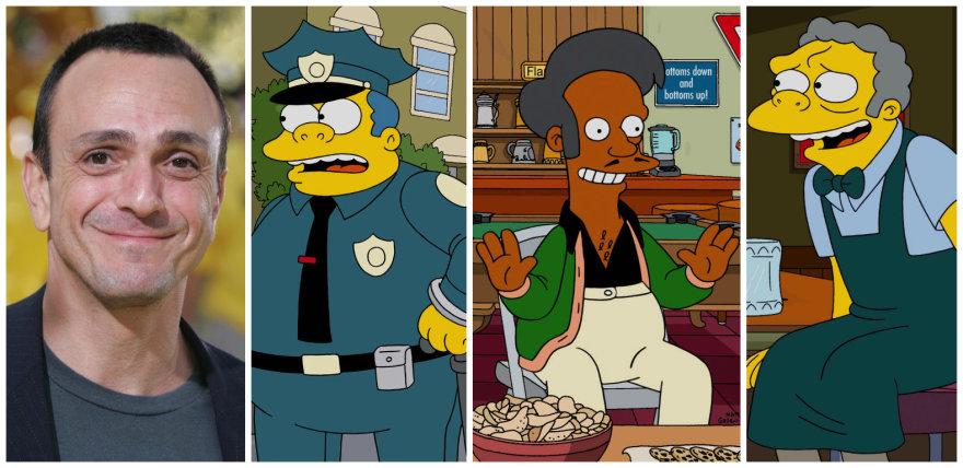 """Vida Press nuotr./Hankas Azaria, įgarsinantis šerifą Bizūną, Eipą, Mo ir kitus """"Simpsonų"""" personažus"""
