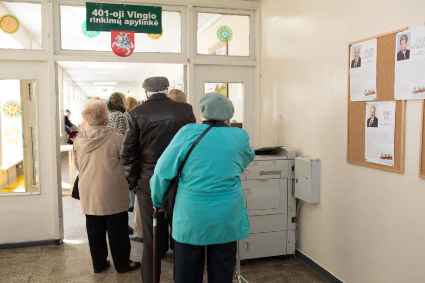 Balsavimas Vilniaus Vingio 401-ojoje rinkimų apylinkėje