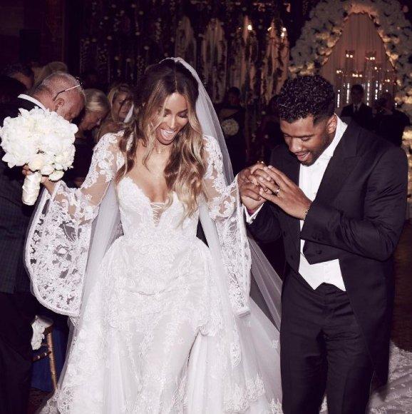 """""""Instagram"""" nuotr./Ciara ir Russellas Wilsonas"""