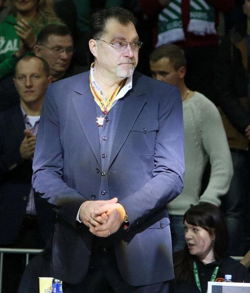 Ilgosios pertraukos metu pasveikintas Arvydas Sabonis