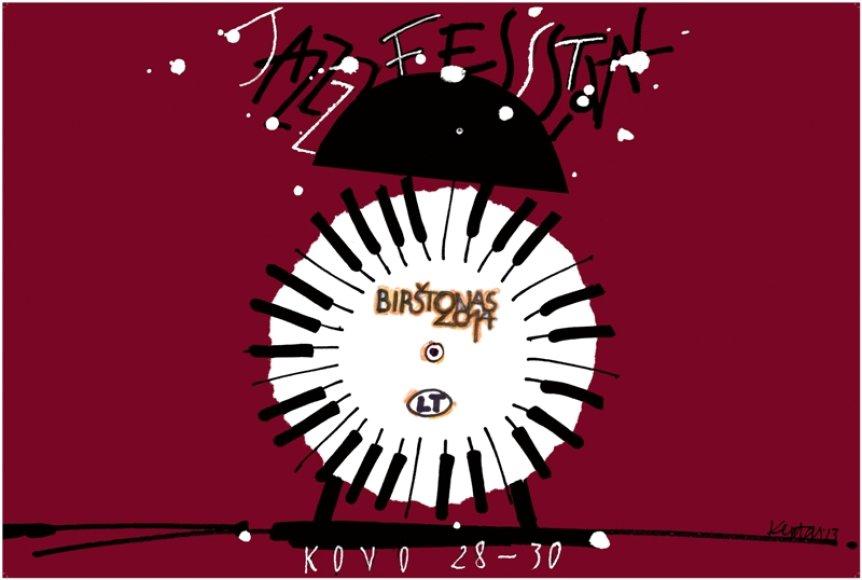 Birštono džiazo festivalio logotipas
