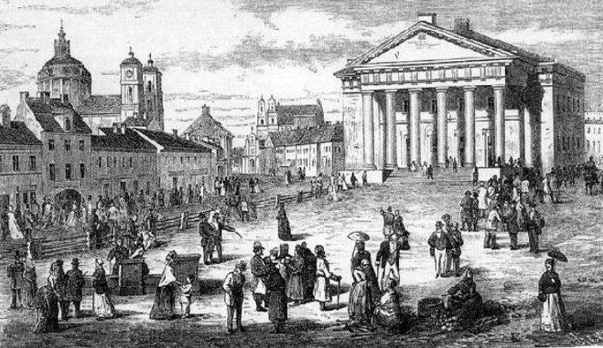 Bausmių atlikimo vieta Vilniuje - Rotušės aikštė