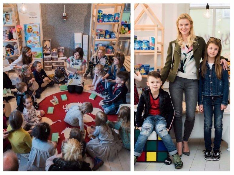 Vilma Javtokienė su vaikais Greta ir Simu