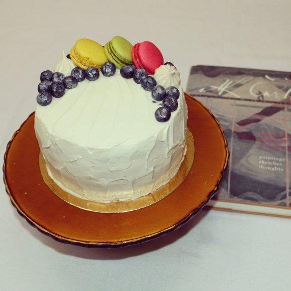 """Tortas """"Vanilinė mėlynė"""""""
