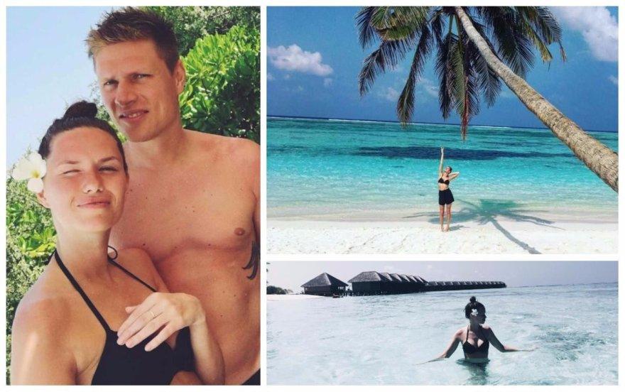 Noros Sudarytės ir Mariaus Žaliūko atostogos Maldyvuose