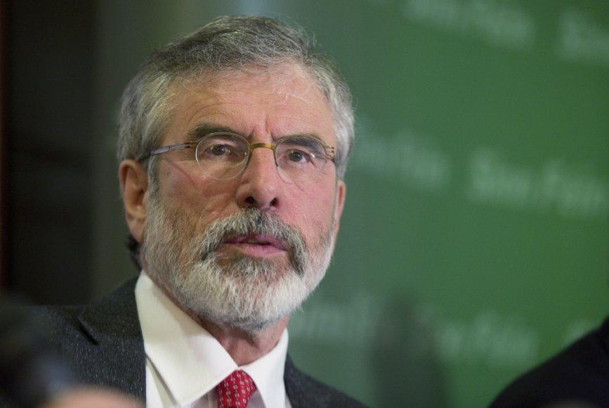 Airių nacionalistų partijos Sinn Fein lyderis Gerry Adamsas