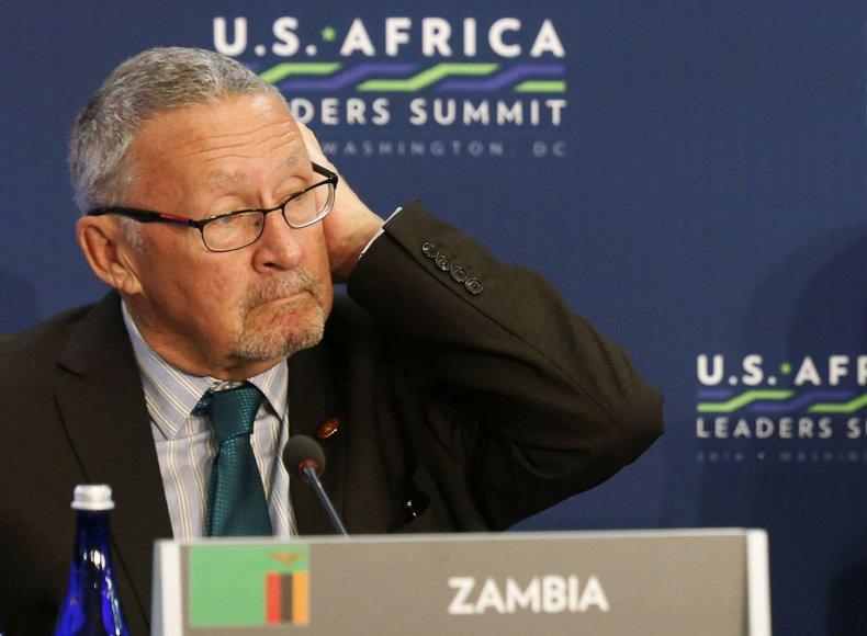 Zambijos viceprezidentas Guyus Scottas