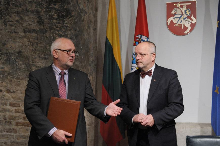 Dainius Pavalkis ir Juozas Olekas