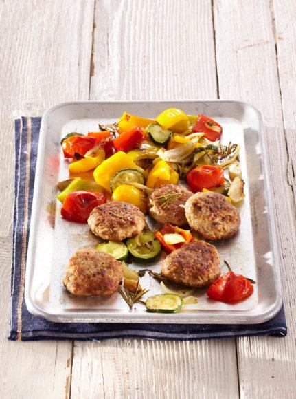 Maltinukai su keptomis daržovėmis