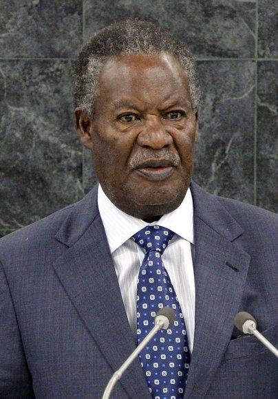 Zambijos prezidentas Michaelas Sata