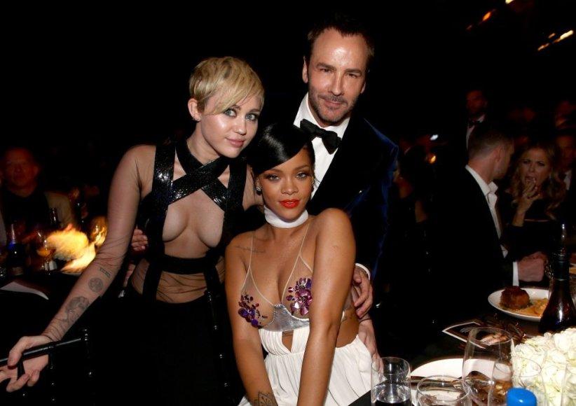 Miley Cyrus, Rihanna ir Tomas Fordas