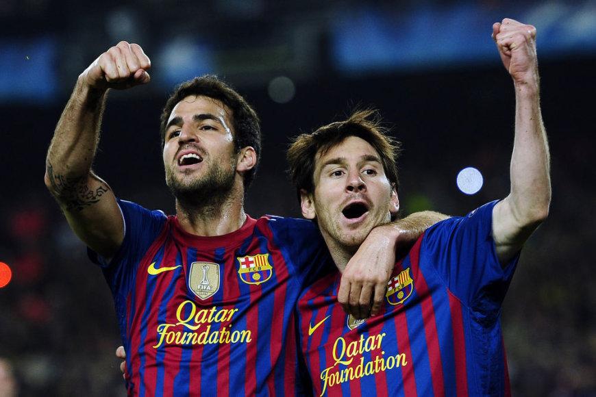Lionelis Messi ir Cescas Fabregasas