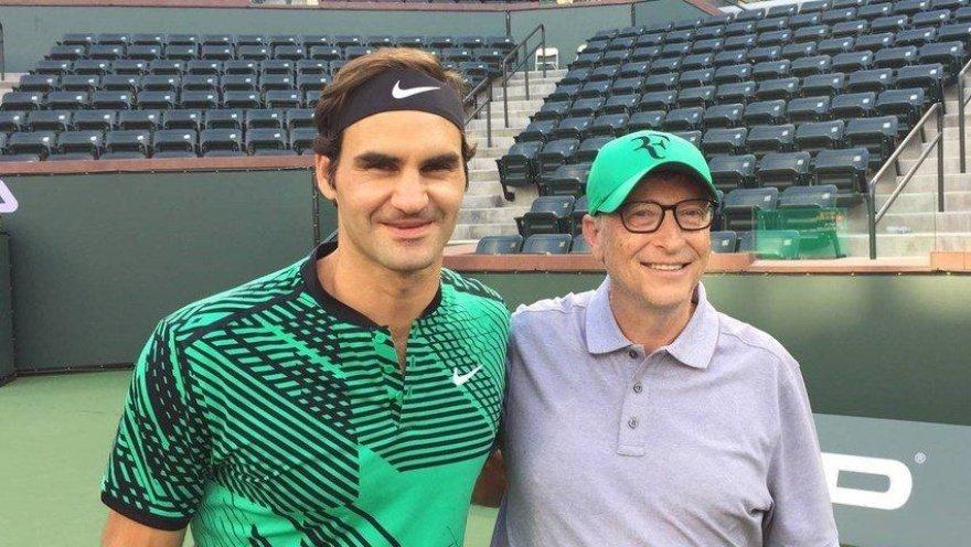 Rogeris Federeris ir Billas Gatesas