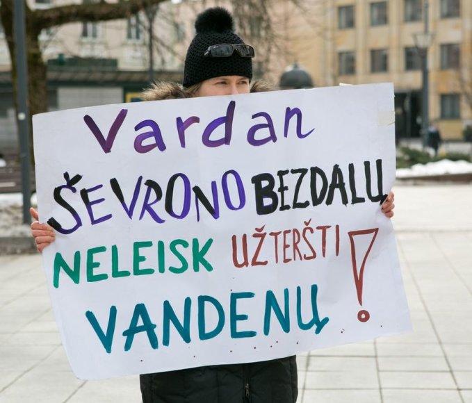 Protestas prieš skalūninių dujų paiešką Lietuvoje