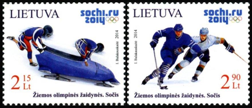 Pašto ženklai Sočyje (Rusija) prasidėsiančioms žiemos olimpinėms žaidynėms
