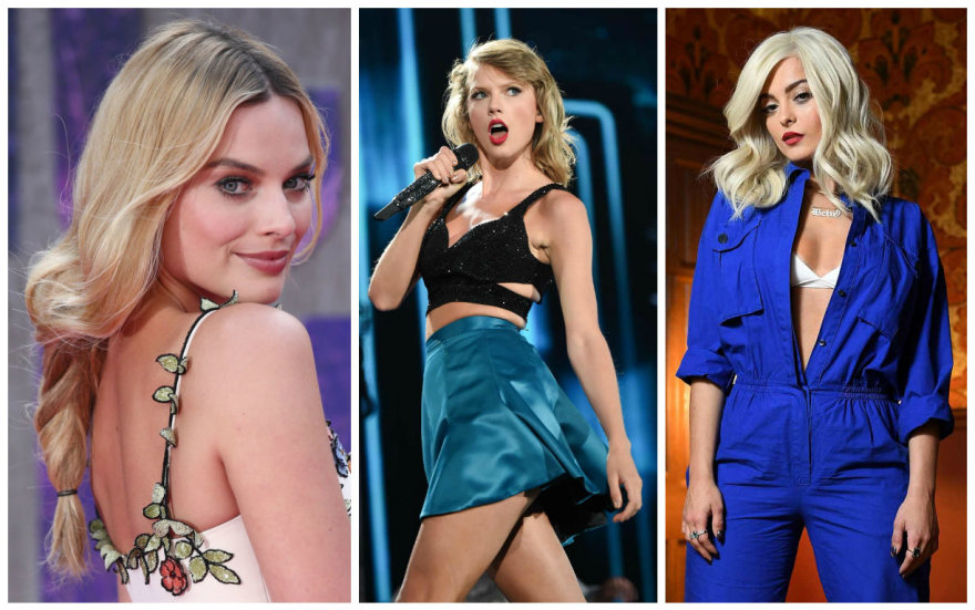 Margot Robbie, Taylor Swift ir Bebe Rexha
