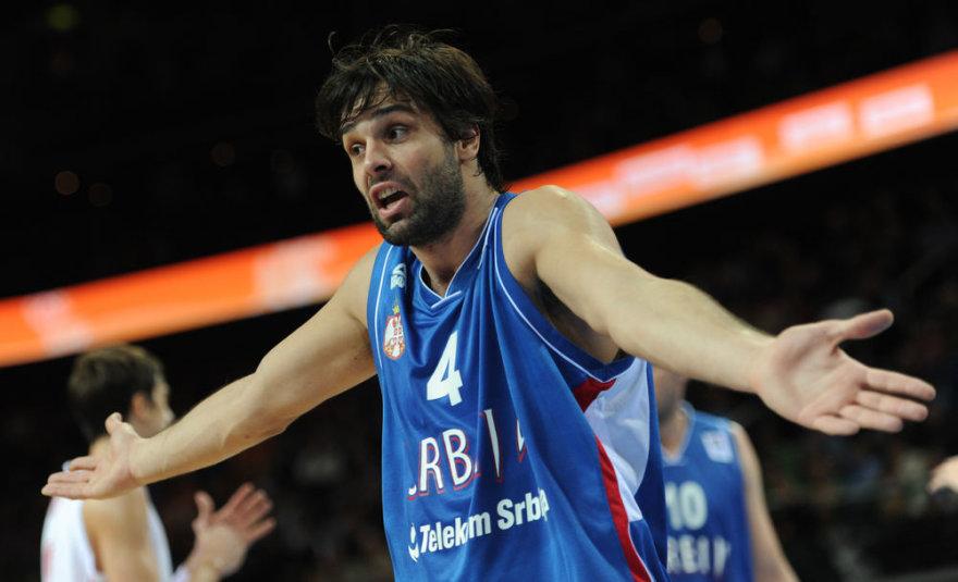 Serbijos krepšinio rinktinės lyderis Milošas Teodosičius