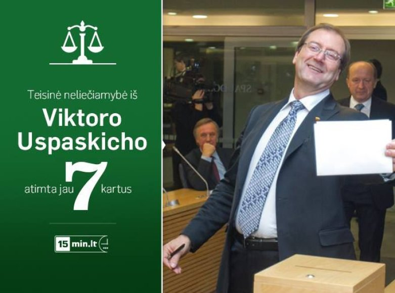 Viktorui Uspaskichui gresia teisinės neliečiamybės netekti aštuntą kartą