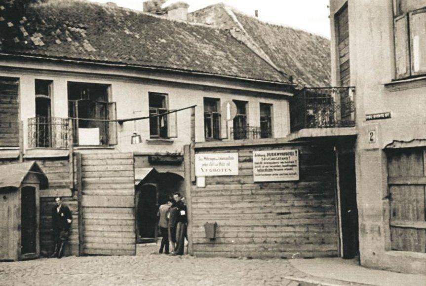 Didžiojo geto vartai Visų Šventųjų ir Rūdininkų g. sankryžoje
