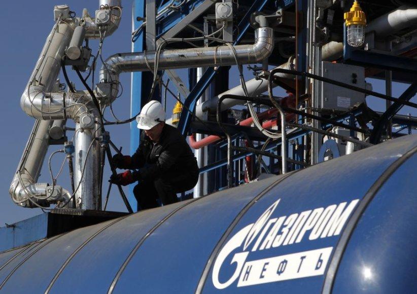 """Gazprom"" pernai pardavė 8 proc. mažiau dujų."