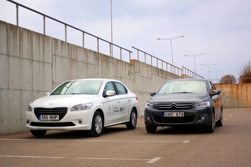 """""""Peugeot 301"""" ir """"Citroen C-Elysee"""""""