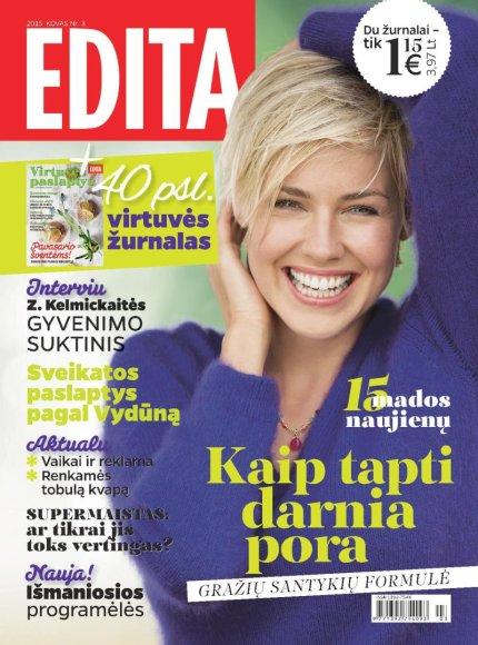 """Kovo mėnesio žurnalas """"Edita"""""""