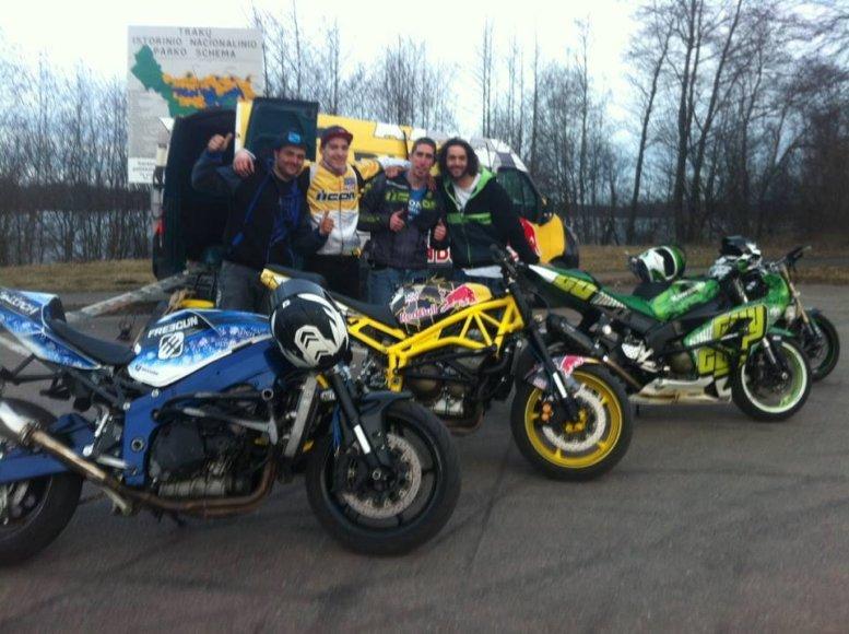 """""""Stunt Riding Eurocup"""" dalyviai"""