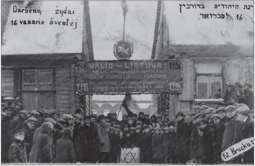 Darbėnų žydai Vasario 16-osios šventėje tarpukariu