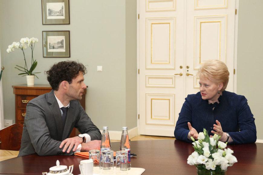 Šarūnas Keserauskas ir Dalia Grybauskaitė
