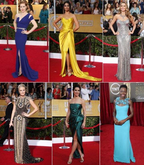 Amy Adams, Camila Alves, Sofia Vergara, Malin Akerman, Sandra Bullock ir Lupita Nyong'o