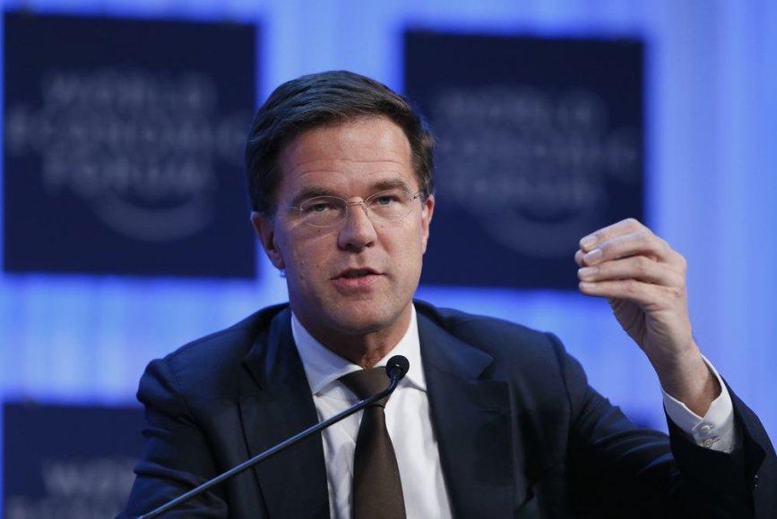 Nyderlandų premjeras Markas Rutte Davose