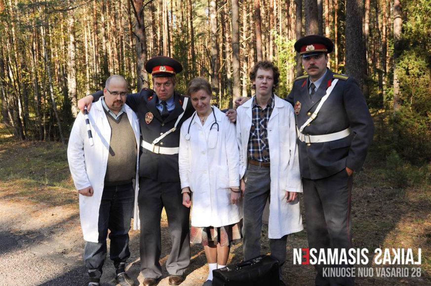 Gabrielius Liaudanskas Svaras (antras iš kairės)