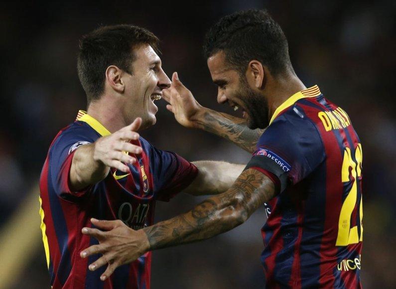 Lionelis Messi ir Danielis Alvesas