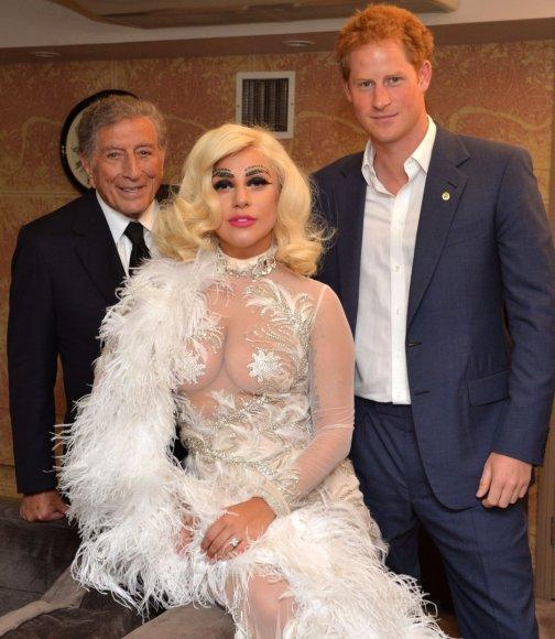 Tony Bennettas, Lady Gaga ir princas Harry