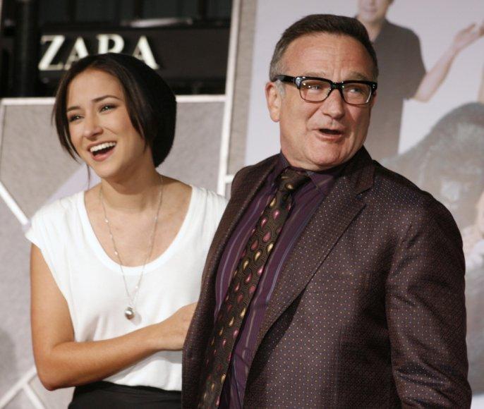 Robinas Williamsas su dukra Zelda Williams (2009 m.)