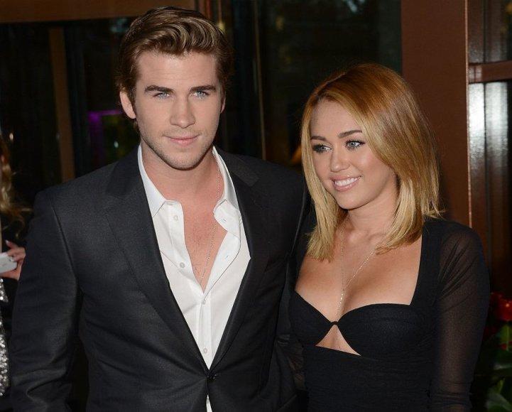 Liamas Hemsworthas ir Miley Cyrus