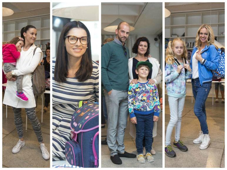 Laura Imbrasienė su dukra, Agnė Jagelavičiūtė, Žygis Stakėnas su šeima, Ingrida Martinkėnaitė su dukra