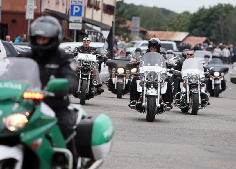 Motociklai mieste
